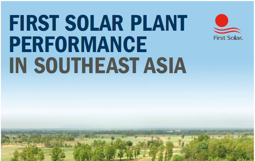 First Solar Performance in Southeast Asia|